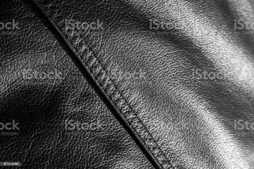 leather jacket close up stock photo