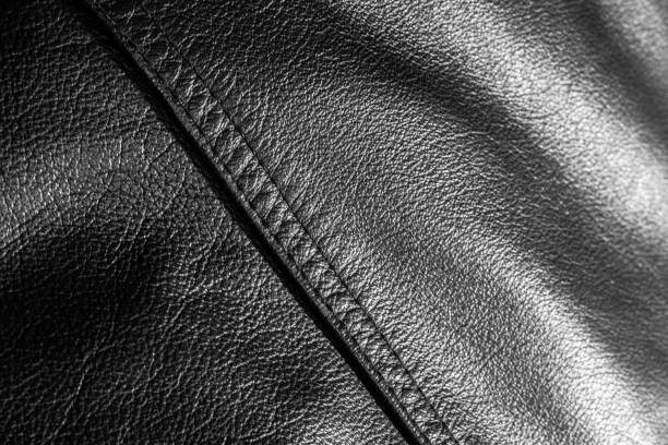 leather jacket close up motorcycle leather jacket detail textured close up leather jacket stock pictures, royalty-free photos & images