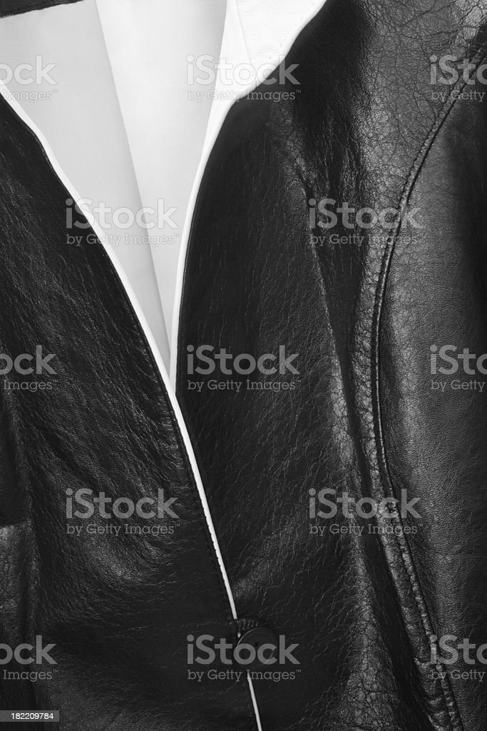 Leather Jacket Designer Fashion Clothing royalty-free stock photo