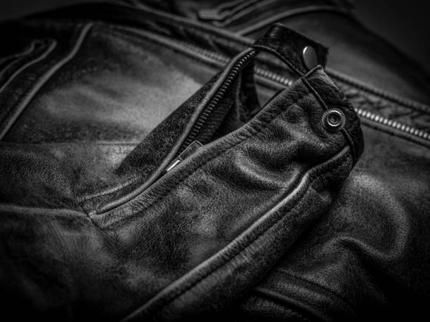 Leather Jacket Detail sleeve detail leather jacket leather jacket stock pictures, royalty-free photos & images