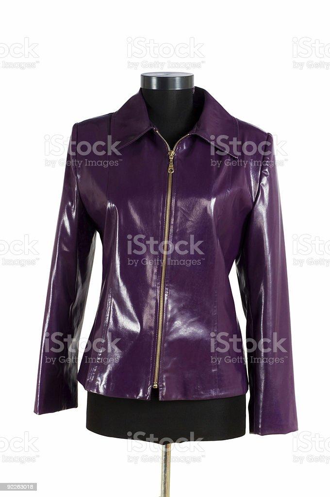 Leather jacket isolated on the white background royalty-free stock photo