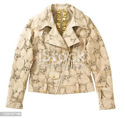 Leather jacket isolated on white background (with clipping path)