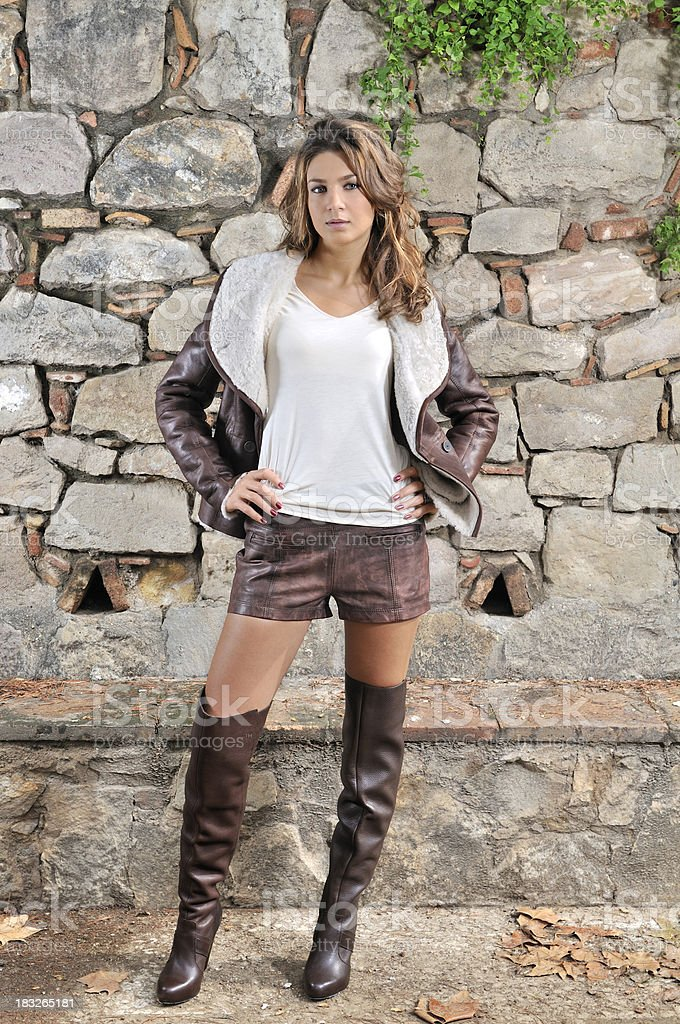 Leather jacket stock photo