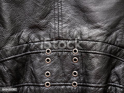 Leather jacket texture with eyelets