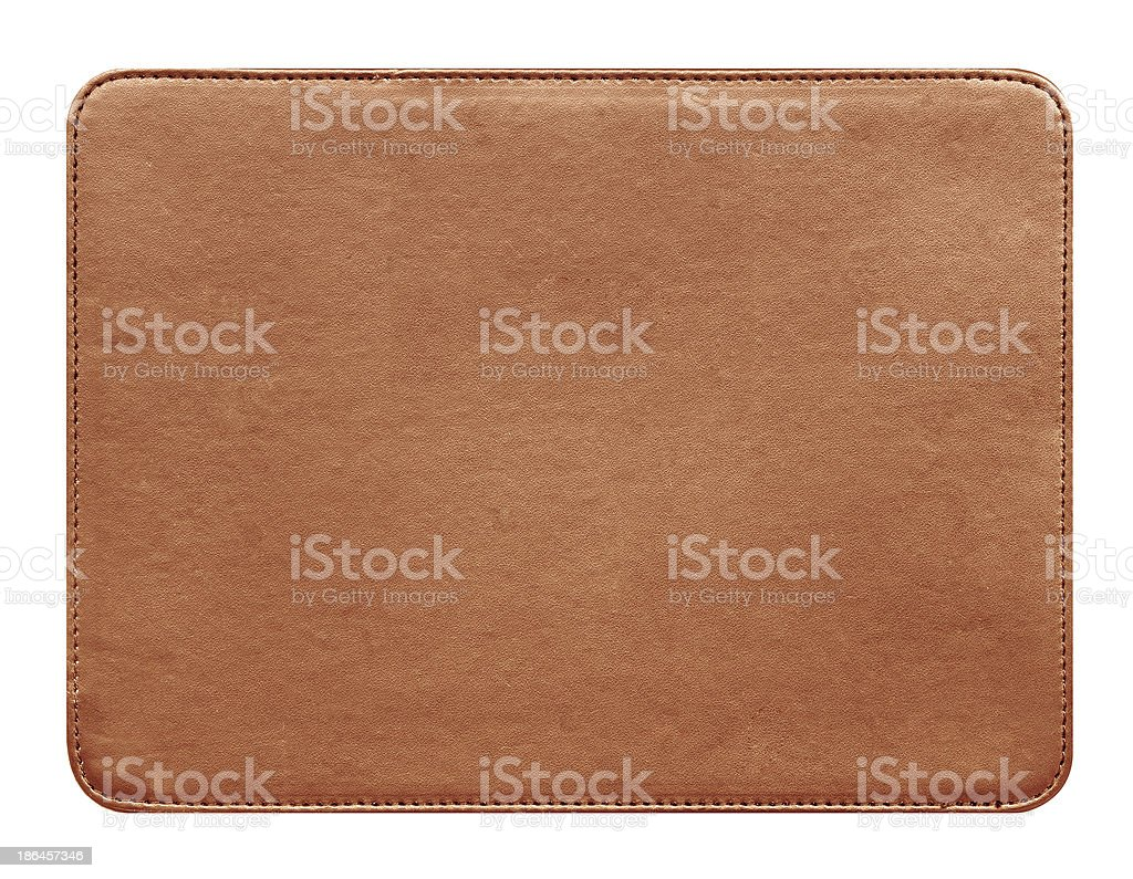 Leather jeans label material royalty-free stock photo