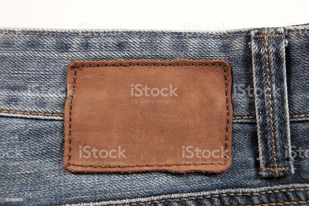 leather jeans label royalty-free stock photo