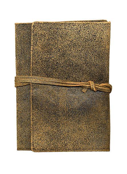 Leather Journal on White XXL stock photo