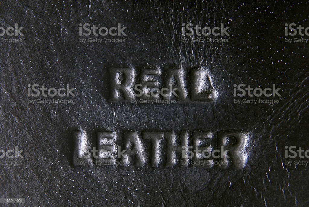 leather label royalty-free stock photo