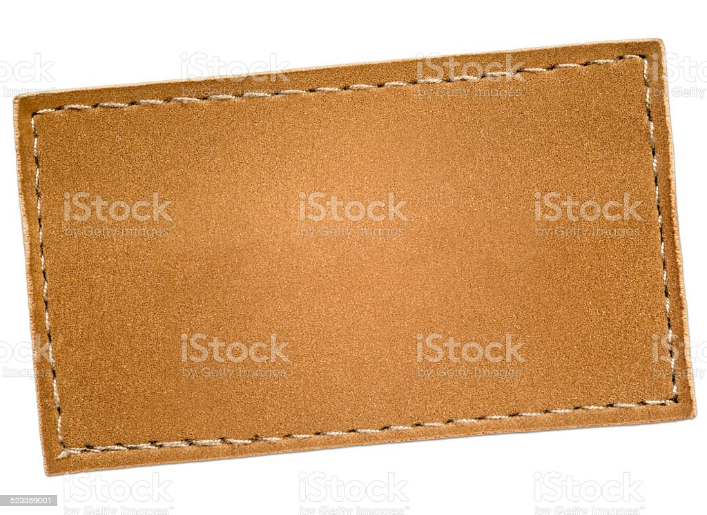 Leather Label stock photo