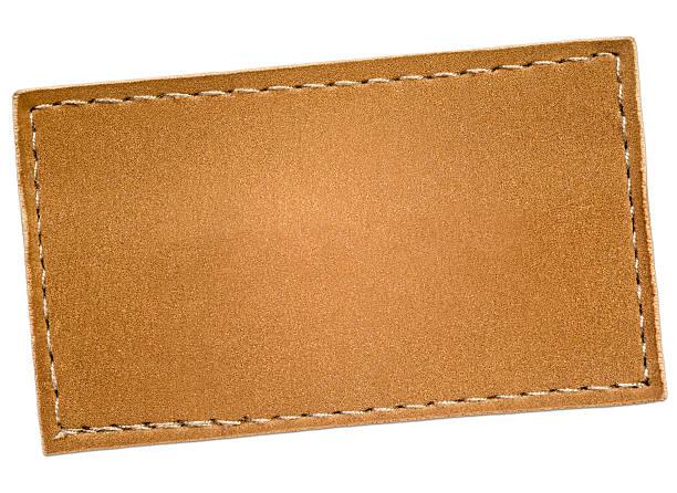 Leather Label Leather label.  stitching stock pictures, royalty-free photos & images