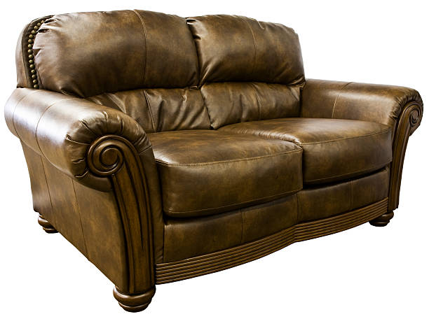 Leather Loveseat Sofa stock photo