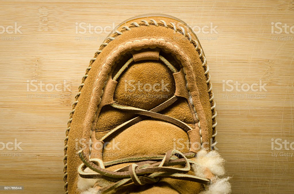 Leather Moccasin stock photo