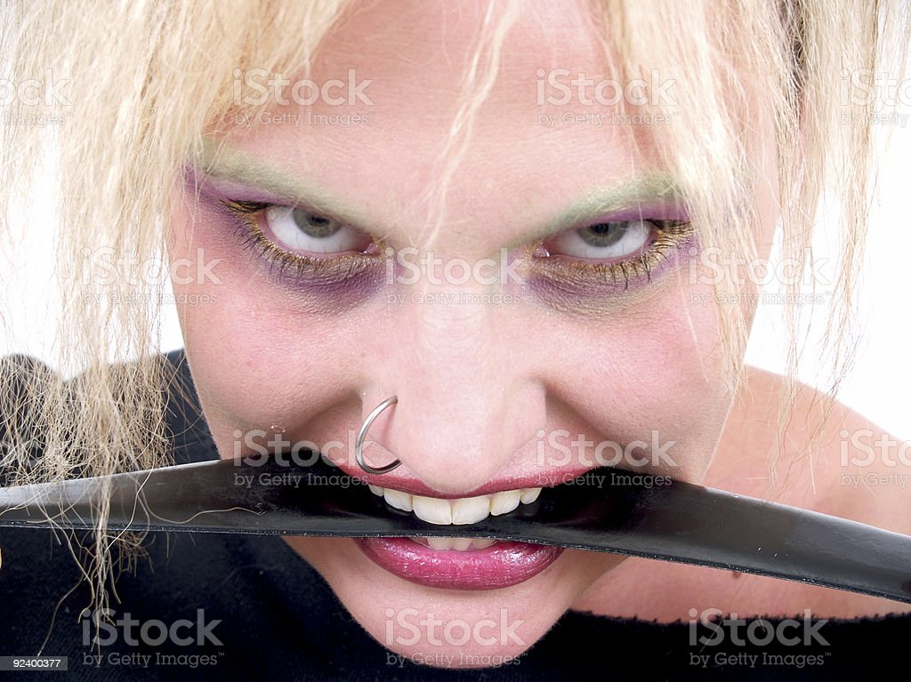 Leather Mouth royalty-free stock photo