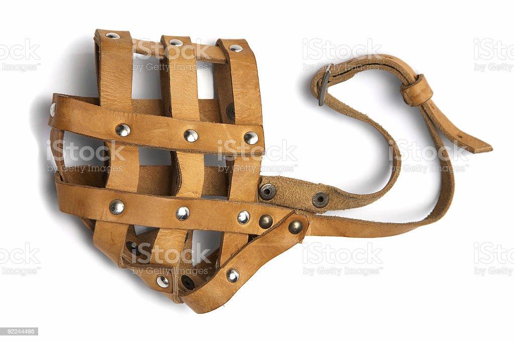 leather muzzle stock photo