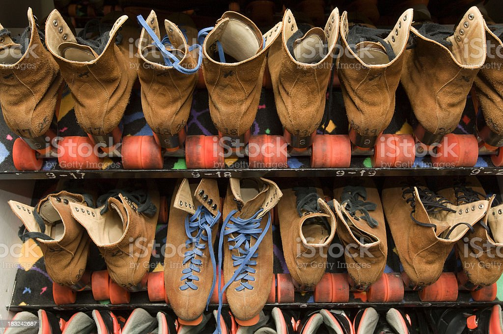 Leather on wheels stock photo