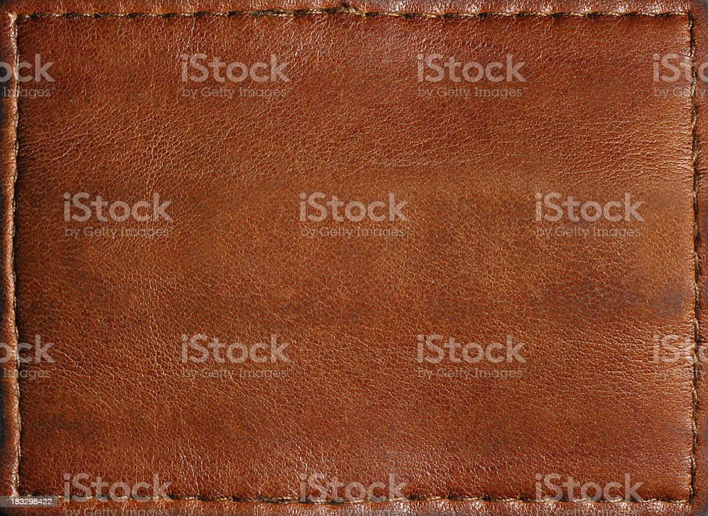 Leather Patch/Label stock photo