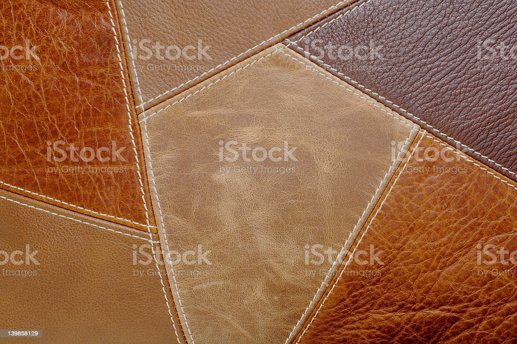 Leather Patchwork Background royalty-free stock photo
