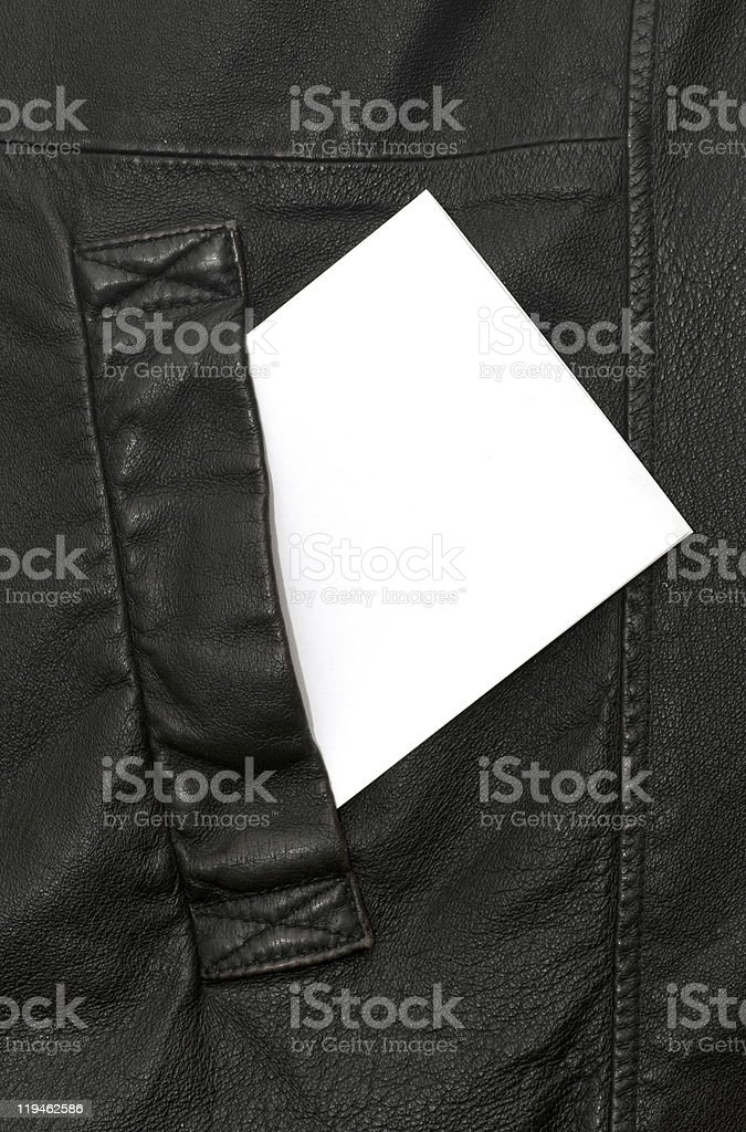 leather pocket royalty-free stock photo