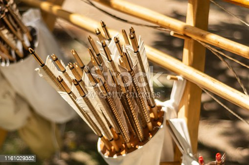 istock A leather quiver full with handcrafted arrows crafted in medieval style 1161029352