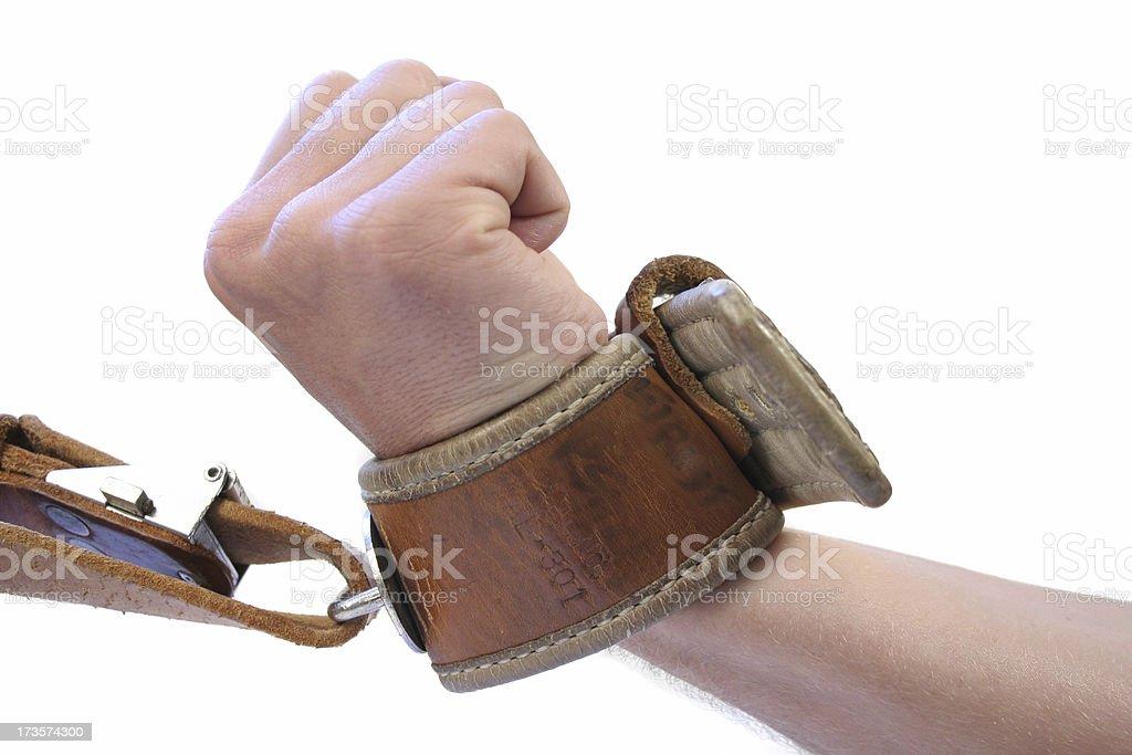 Leather Restraint stock photo
