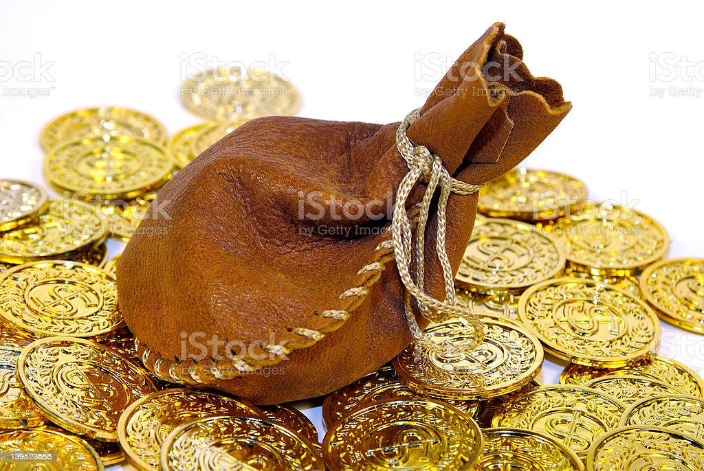 Leather Sack royalty-free stock photo