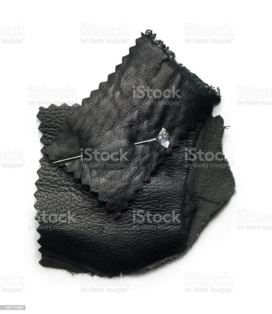 Leather sample stock photo