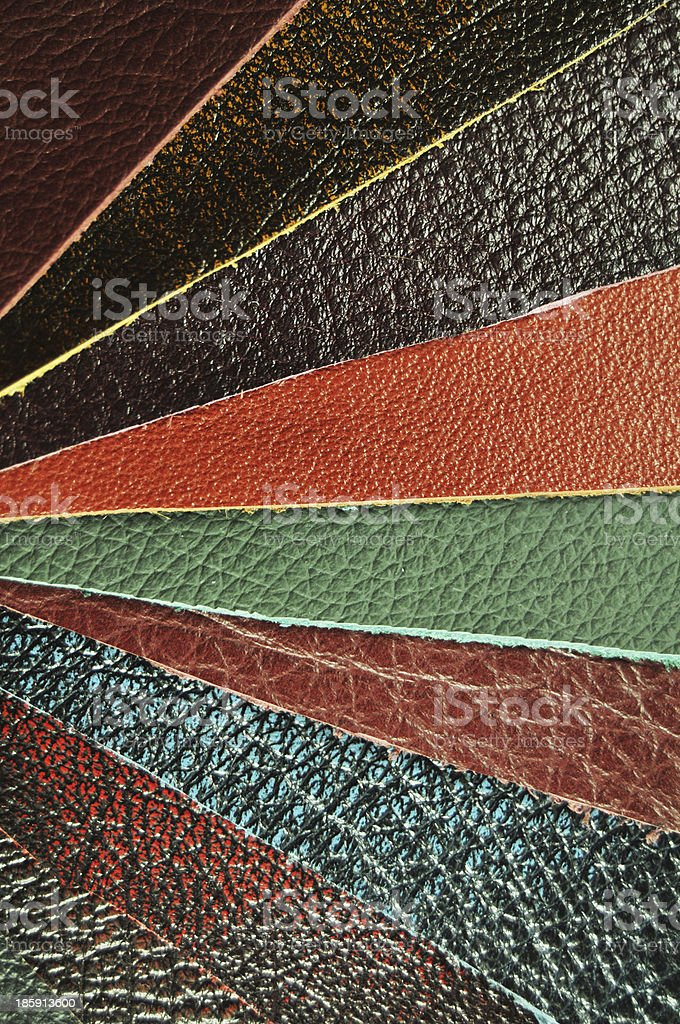 Leather samples royalty-free stock photo