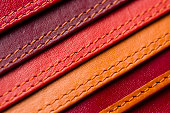 istock Leather samples with stitches 609716522