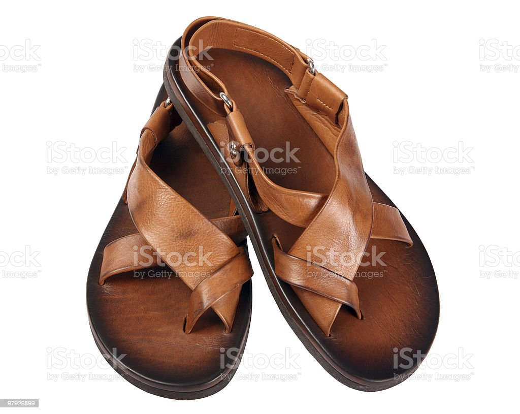Leather sandal royalty-free stock photo