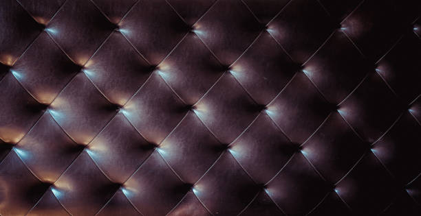 leather seamless tileable background pattern,diamond stitched leather furniture seamless pattern for background or texture. stock photo