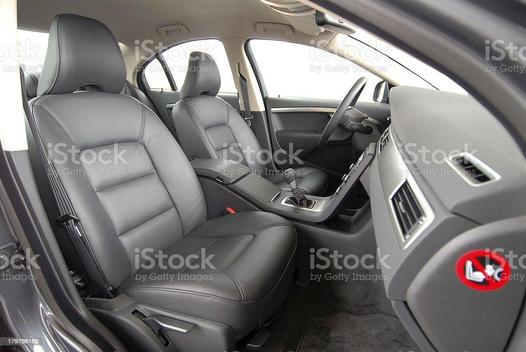 Leather seats stock photo