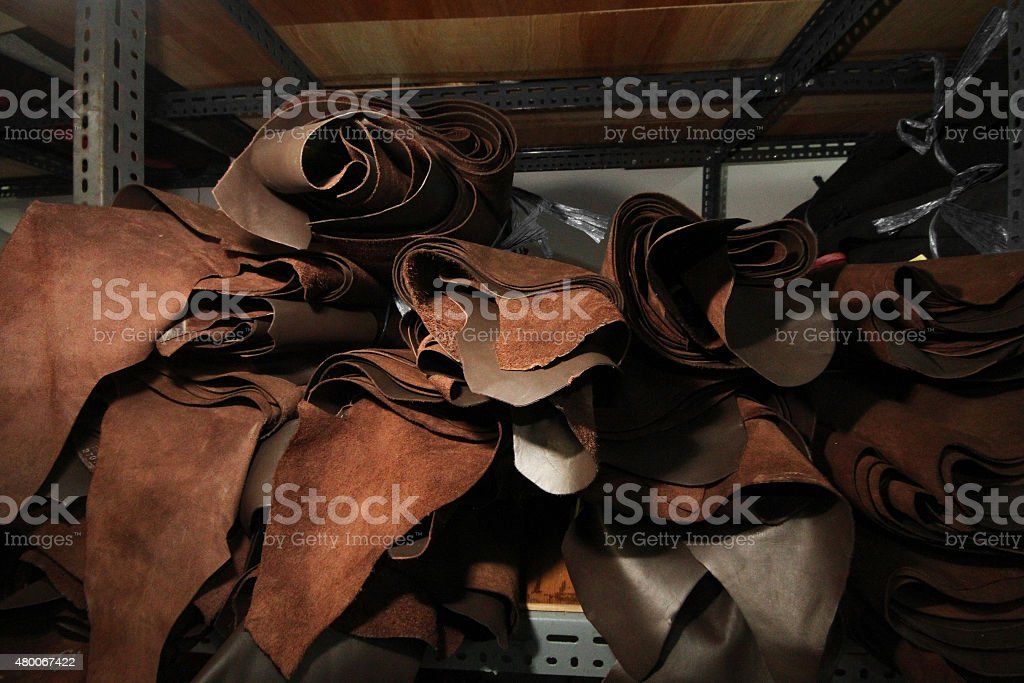Leather selection stock photo