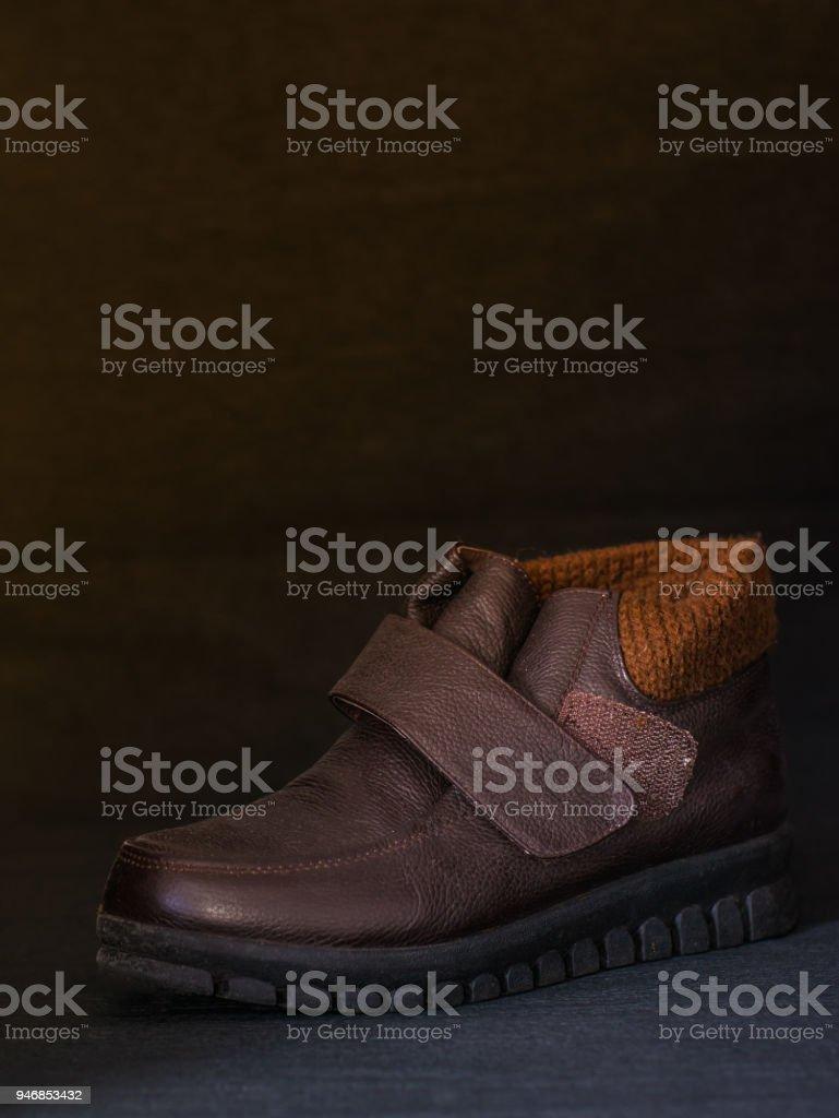 Leder-Schuh für die Dame – Foto