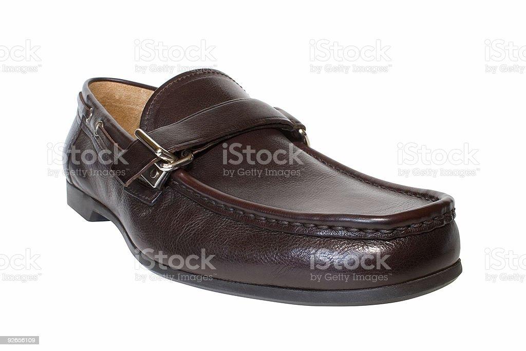 leather shoe royalty-free stock photo