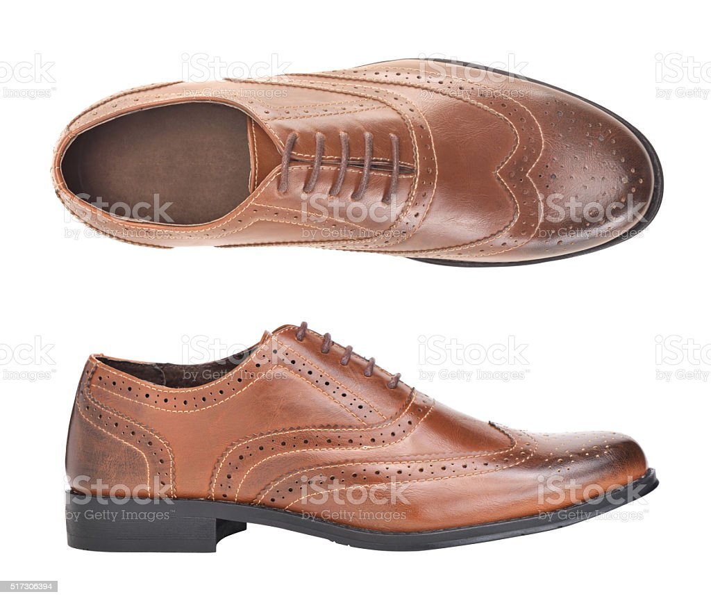 leather shoes stock photo