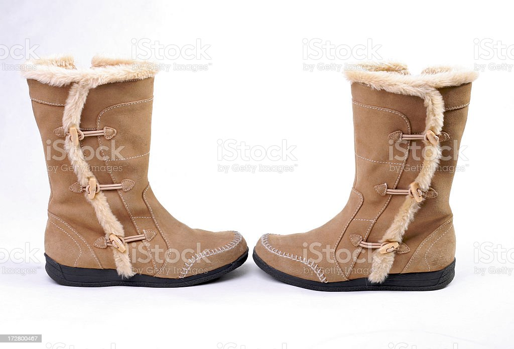 Leather Snow Boots royalty-free stock photo