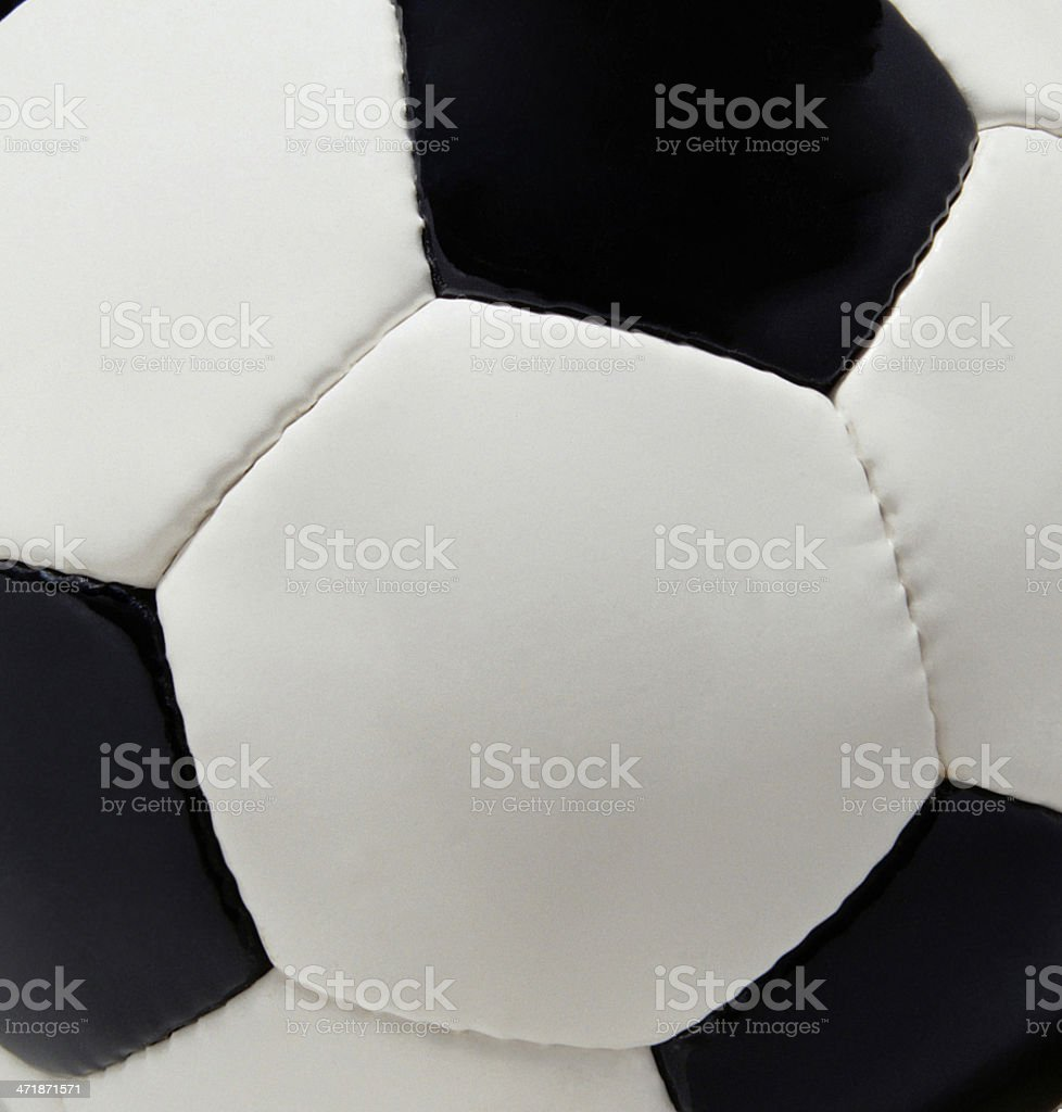 Leather soccer ball background or texture royalty-free stock photo