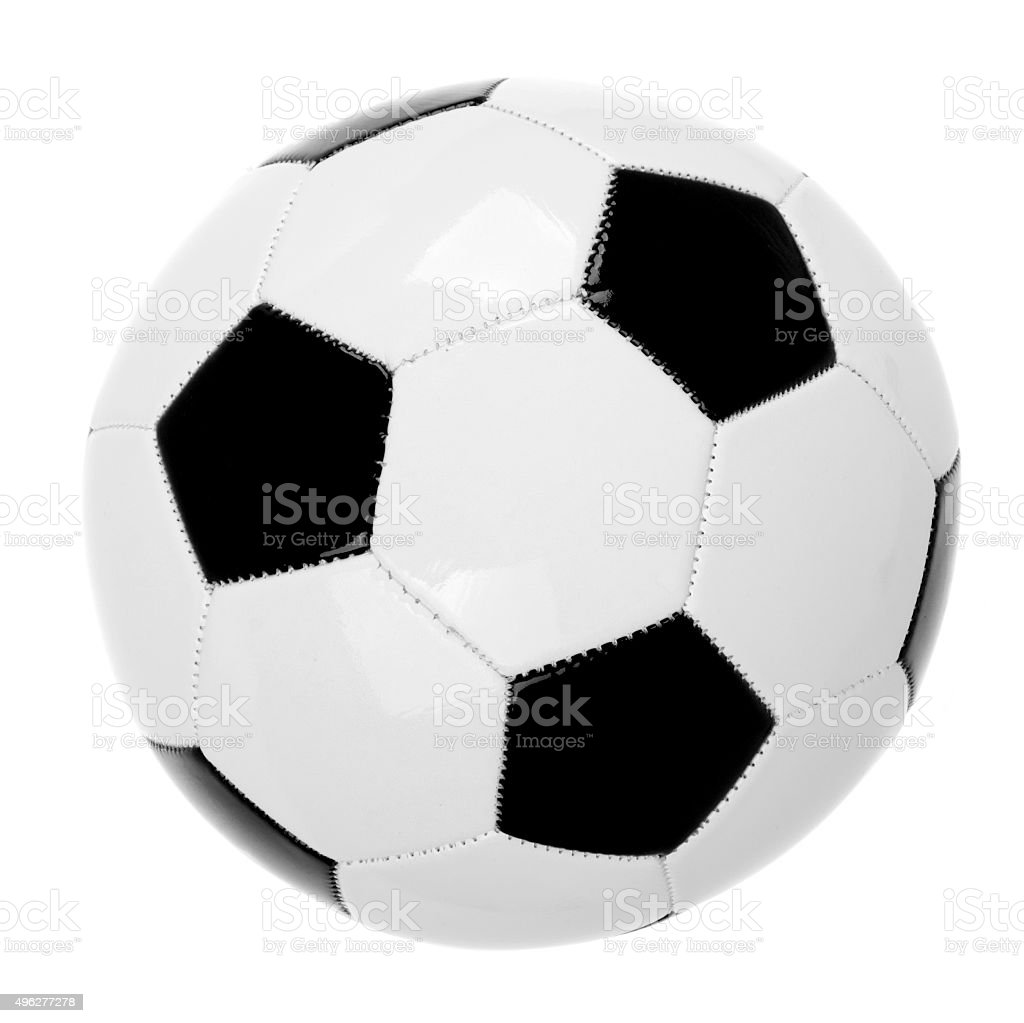 Leather soccer ball stock photo