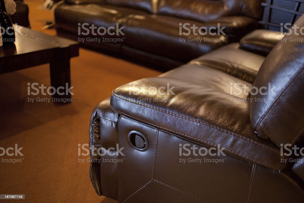 Leather Sofa in Living Room royalty-free stock photo