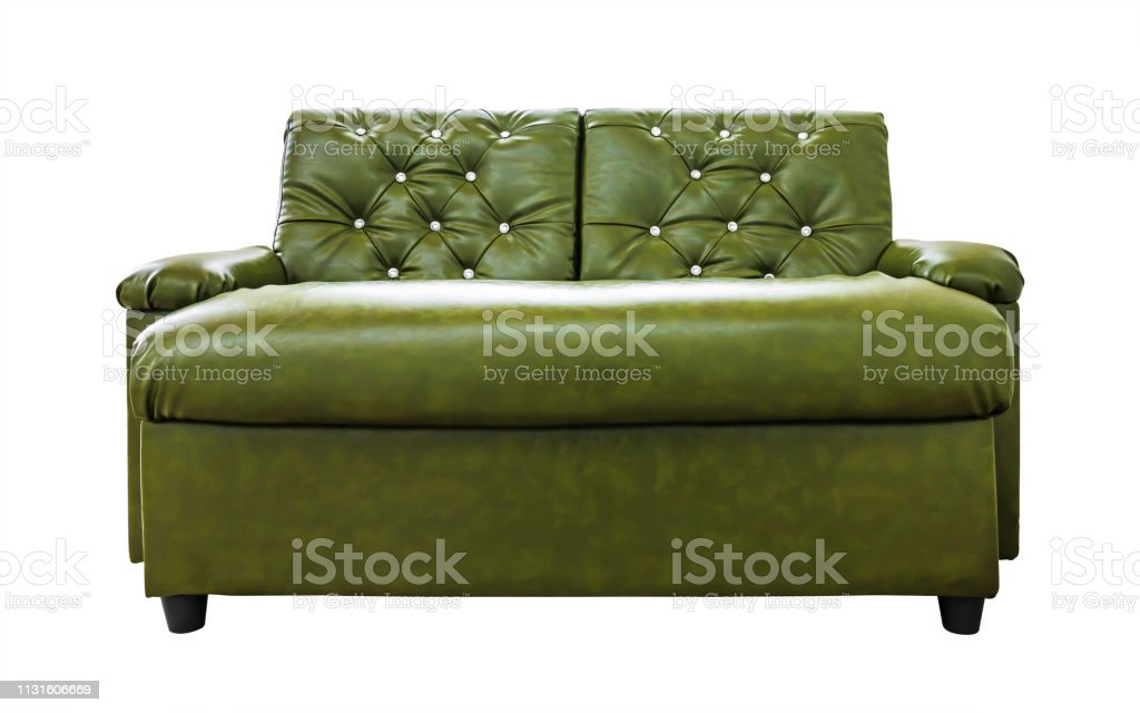 Sensational Leather Sofa Isolated On White Background Modern Chair With Machost Co Dining Chair Design Ideas Machostcouk