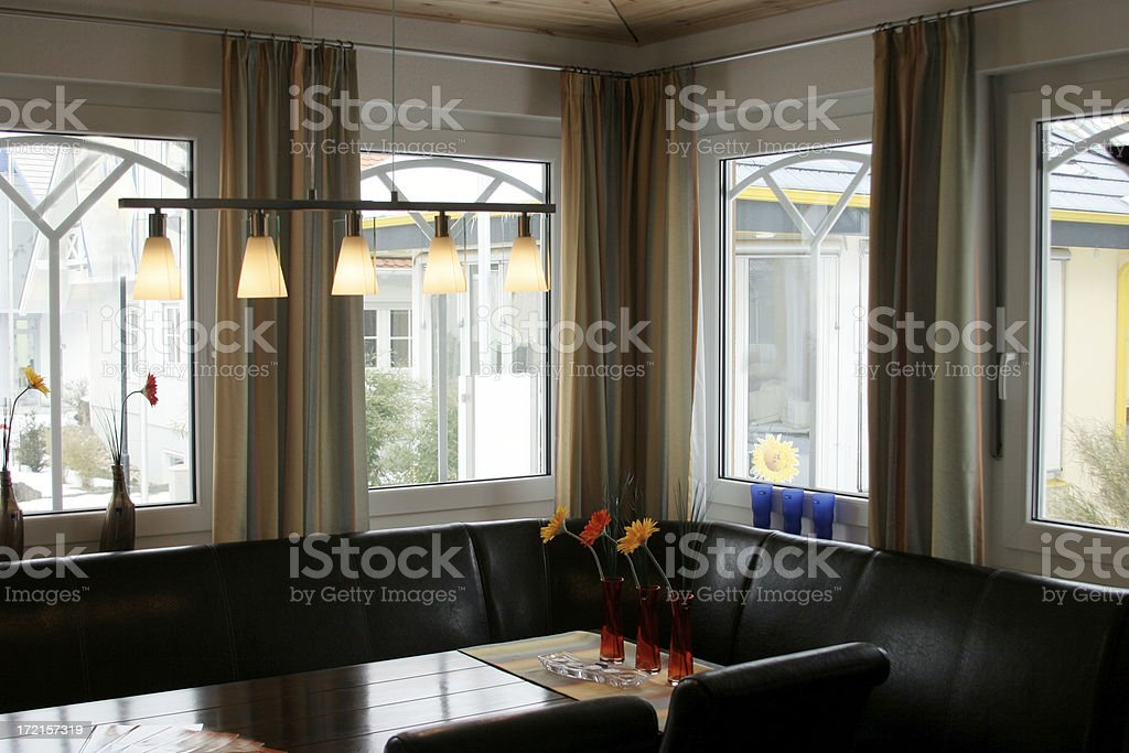 Leather sofa living room royalty-free stock photo