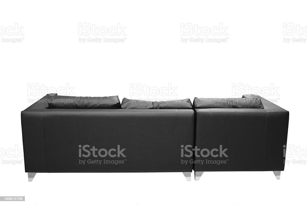 Leather sofa. stock photo