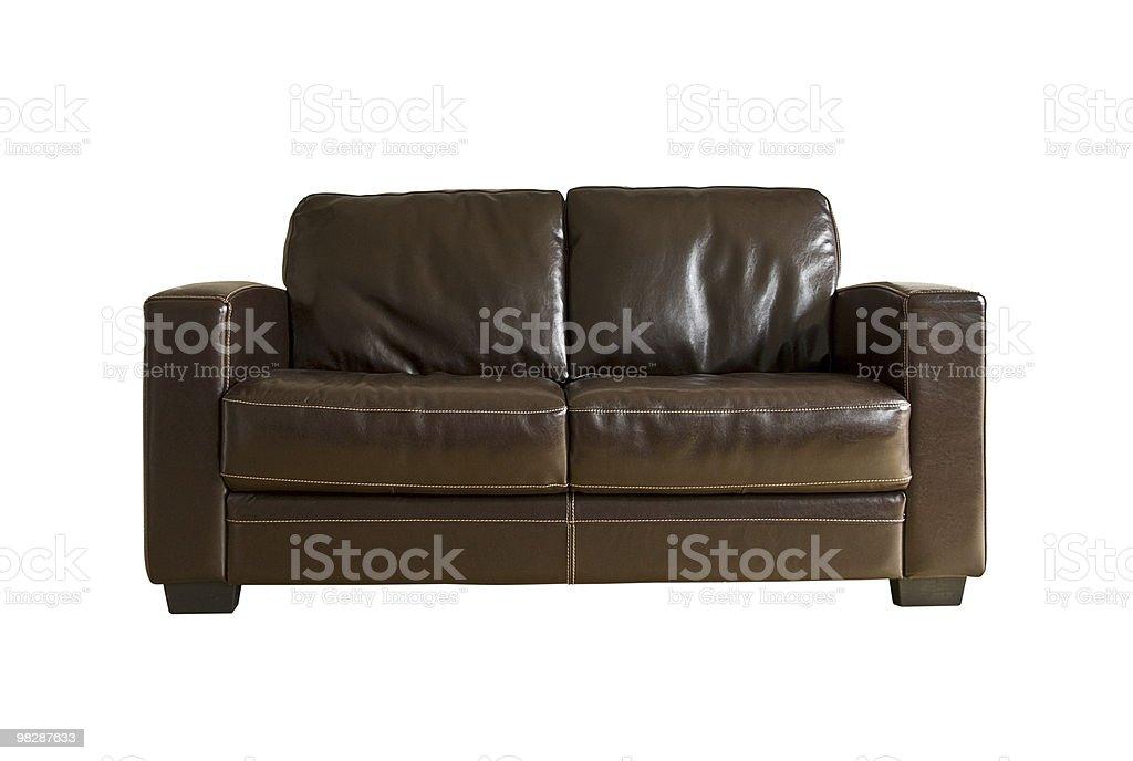 Leather sofa royalty-free stock photo