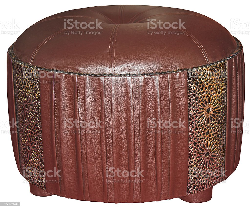 Leather tabouret stock photo