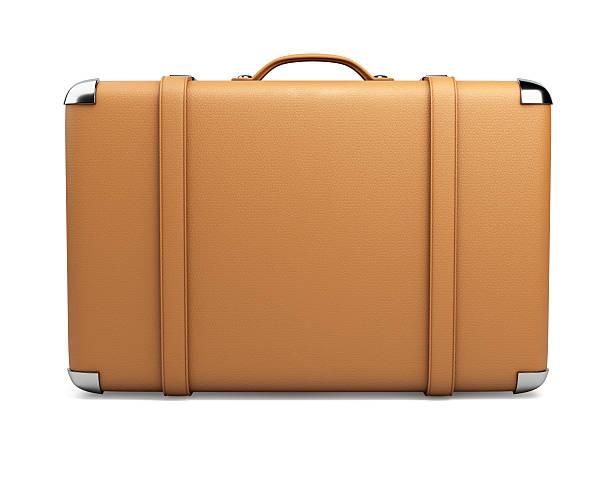 leder-koffer - vintage bag stock-fotos und bilder