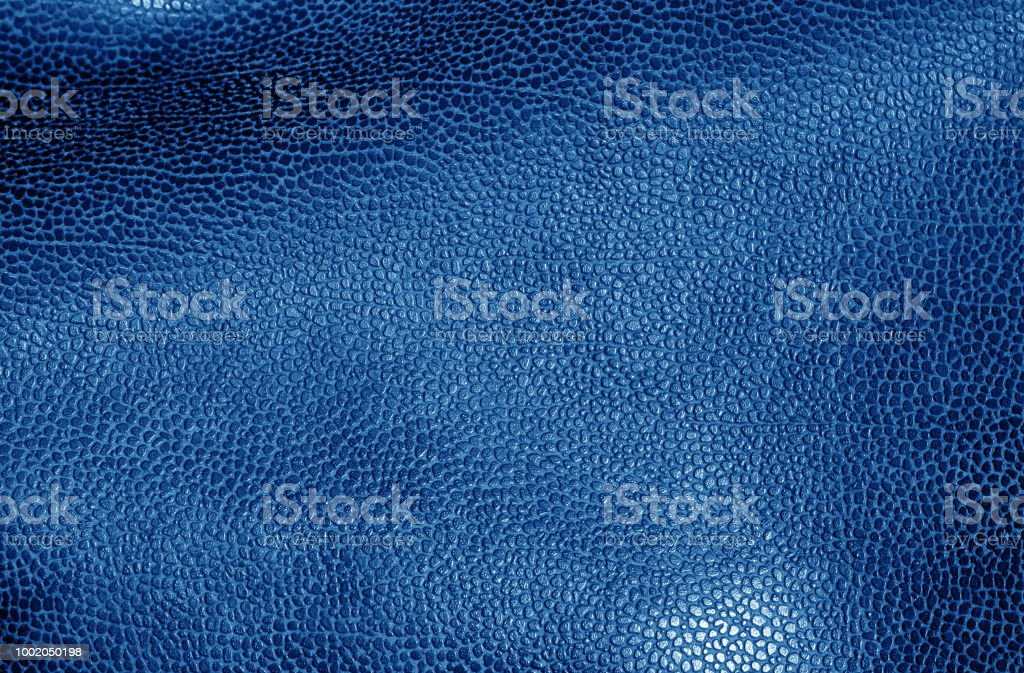 Leather surface in navy blue color. Abstract background and texture...