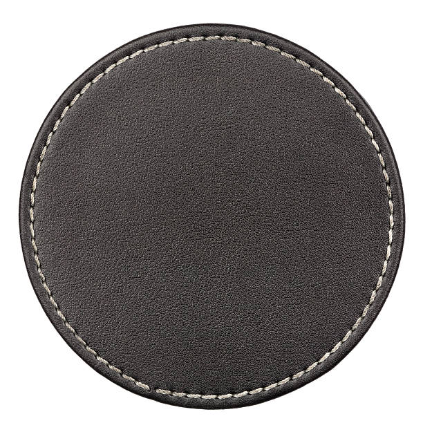 leather table coaster - seam stock photos and pictures