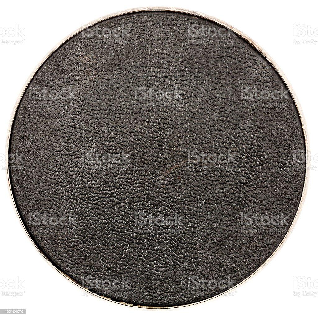 Leather table coaster stock photo