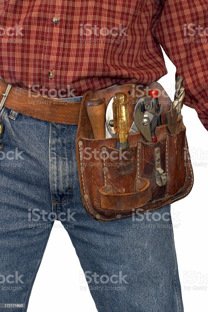 Leather Toolbelt royalty-free stock photo