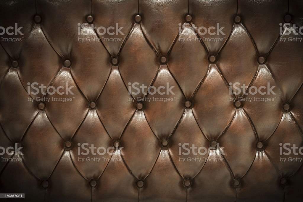 Leather upholstery background stock photo